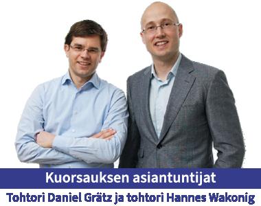 Tohtori Daniel Grätz ja tohtori Hannes Wakonig